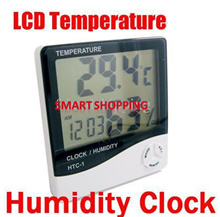 Temperature and Humidity Meter Thermometer Clock Digital LCD Alarm Calendar SG stock