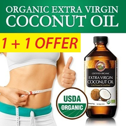 1 + 1 OFFER: Organic Extra Virgin Coconut Oil 500ml Cholesterol Free and Reduces LDL Oxidation VCO