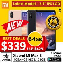 Xiaomi Mi Max 3 | With Playstore Installed | SG Seller | Export Set| Latest Model - 64GB/ 128GB -3 Months Store Warranty [ Exclusively Featured on Hardwarezone ]
