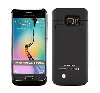 factory authentic 39b15 63f3b Samsung Galaxy S6 Edge Battery Case, Phone Charger Case - 4200 mAh External  Rechargeable Protectiv