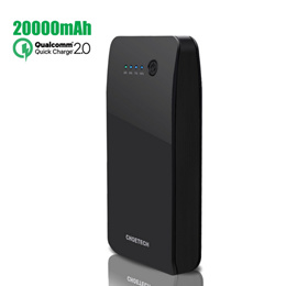 [Fast Charger Power Bank] CHOETECH Quick Charge 2.0 Power Bank 15600/20000mAh External Battery (5V/9V/12V Supported) QC 2.0 Power Bank