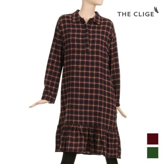 惹かれることがイージーカジュアルチェックワンピースCB4OP011 面ワンピース/ 韓国ファッション