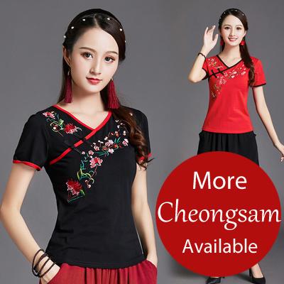 04ec208af Sepcail Promo 💕2019 NEW Embroidery dress tops pants CheongSam / Qipao