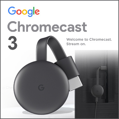 GoogleGoogle Chromecast 3 0 - HDMI Media Streaming Device Airplay Mirror