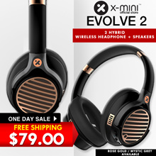 [New Launch] Online Exclusive Model X-mini™ Evolve 2 Hybrid Wireless Headphone + Speakers // Free Shipping // Rose Gold n Grey available