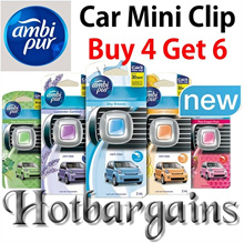 ★Buy 4 Get 6★Ambi Pur Car Mini Clip AC Vent Air Freshener (2ml) Lasts up to 30 days