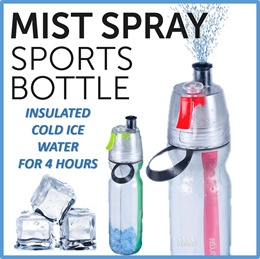 SPRAY MIST INSULATED BOTTLE Sports/Daily use/School/Kids/Office/Gifts