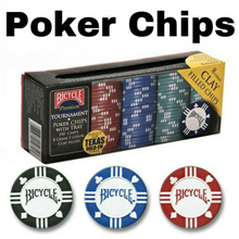 BICYCLE POKER CHIPS 100 pieces with Tray (Texas Holdem Poker) - Premium Tournament - COPAG