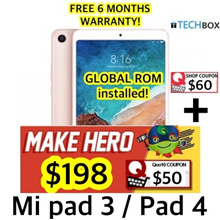 [6 MTHS WARRANTY!] Mi Pad 3 / Pad 4 Tablet 32GB / 64GB ROM LTE| READY STOCKS! | GLOBAL ROM