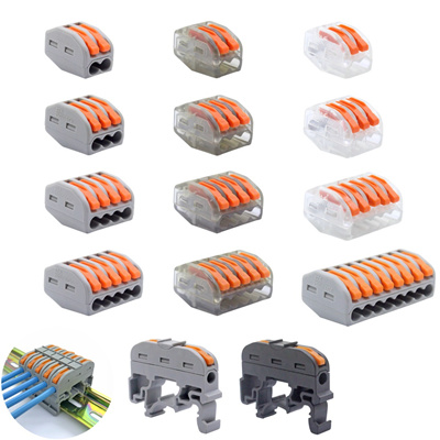 (30-100 pcs / lot) 222 WAGO mini fast wire connectors-Universal Compact on