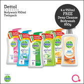 [RB]【FREE gift】4 x Dettol Body Wash 950ml | Direct from Singapore