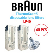 BRAUN - ThermoScan® disposable lens filters - 20 / 40 PCS IN 1 PACK - MODEL: LF20 / LF40