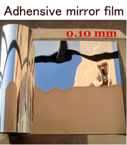 Supply peel and stick mirror silver colorsafe-mirror effect wallpaper and decorative mirror film