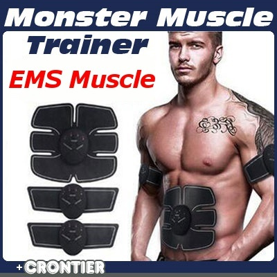 EMS Muscle Stimulator Abs Trainer Body Fitness Training Slimming Massager Machine For Men Women Deals for only S$16.9 instead of S$0