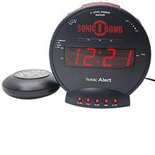 (Sonic Alert)/Furniture  Decor/Home Decor/DIRECT FROM USA/Sonic Boom SBB500ss Sonic Bomb Loud Plus Vibrating Alarm Clock