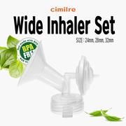 Spectra wide inhaler set (size: 24mm, 28mm, 32mm) Wide bottle compatible (avent, double heart, etc.)