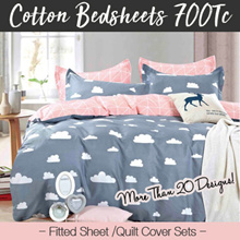 ★700 Thread Count ★100% Cotton Bedsheet Set / Quilt Cover Sets (OVER 20 DESIGNS)