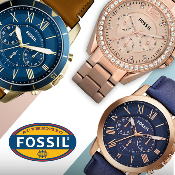Fossil Mens and Womens Watch Deals for only Rp2.299.000 instead of Rp2.299.000