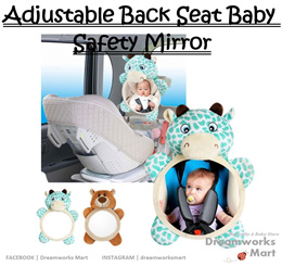 Adjustable Back Seat Baby Safety Mirror