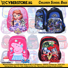 Transformers Spiderman Ironman Cars Star Wars Planes Monster High Children School Bag Backpacks
