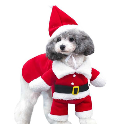 Christmas Dog Costumes.Sale New Christmas Pet Dog Cat Costumes Funny Santa Claus Costume For Small Dogs Winter Warm Puppy P