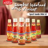 [인도푸드]삼발칠리소스SAMBAL INDOFOOD 6 종 삼발소스 5개 묶음발송 (1 BUNDLE )140ml X 5 개입/케챱마니스/칠리/나시고렝/삼발/makanan/sambal/nasi goreng/SAMBAL INDOFOOD WITH 6 VARIANT 5packs (1 BUNDLE )140ml   X 5 pcs