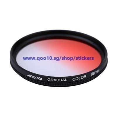 GND Graduated Red 58mm Filter Neutral Density For Canon Nikon DSLR Camera Lens