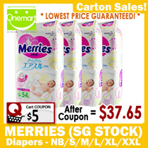 ◄ MERRIES Carton Sales ► FREE DELIVERY ★ SG Official ★ MADE IN JAPAN ☆ Tape Diapers / Walker Pants