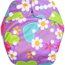 Clodi Popok Kain Bayi Babyland Snap Microfiber Purple Flower   cloth diaper   Best seller