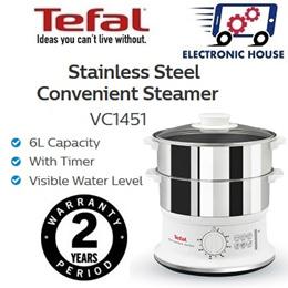 ★ Tefal VC1451 Stainless Steel Food Steamer ★ (2 Years Warranty)