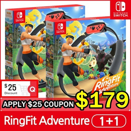 『Ready Stock』 [2 Units] Nintendo Switch Ring Fit Adventure