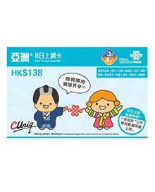 Prepaid Japan(HK ChinaUnicom)Travel SIM Card 8 days Unlimited Date * SoftBank Network