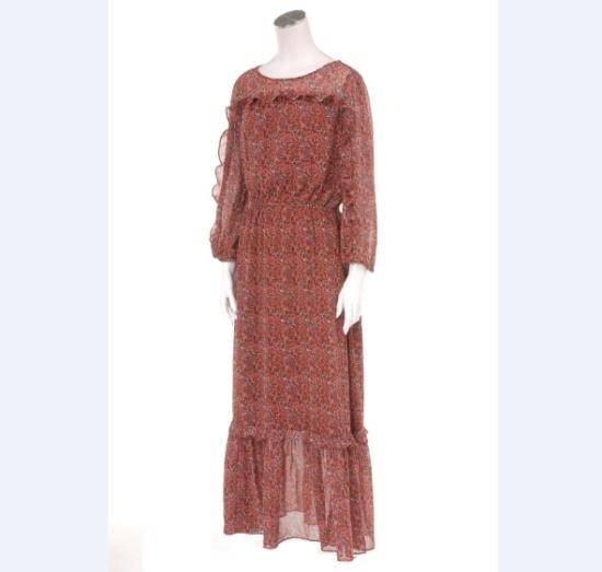 ギャップ女性ペイズリー小売シースルー・ロングワンピース5127340007064 面ワンピース/ 韓国ファッション