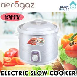 [Aerogaz] AZ-603SC (3L)/AZ-605SC (5L)/ Electric Slow Cooker