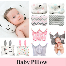 Multiple choice baby pillow / Flat Head Prevention Correction/ 100% Cotton