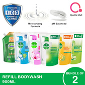 [RB] Dettol Body Wash Refill Pouch 900ml [Bundle of 2]