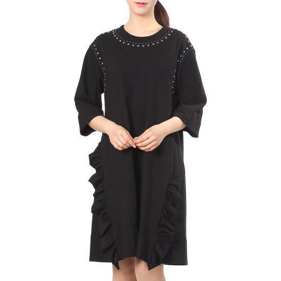 セカンドフロアちんポイントやフリルのワンピースSWMR2WO013 面ワンピース/ 韓国ファッション