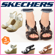 "As long as stock !!! 【Free Shipping】 【SKECHERS】 Sketchers Sandals 2016 Brand Ladies Wedge Sole Gladiator Beach Summer ""38165"" ""38545"""