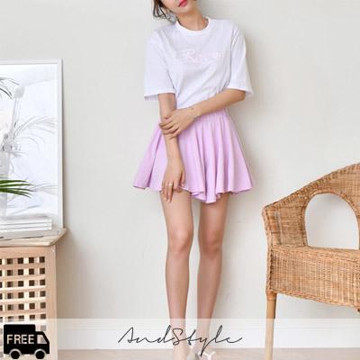 [AndStyle官方旗艦店] 褶襉迷你裙+T恤 套裝 235718