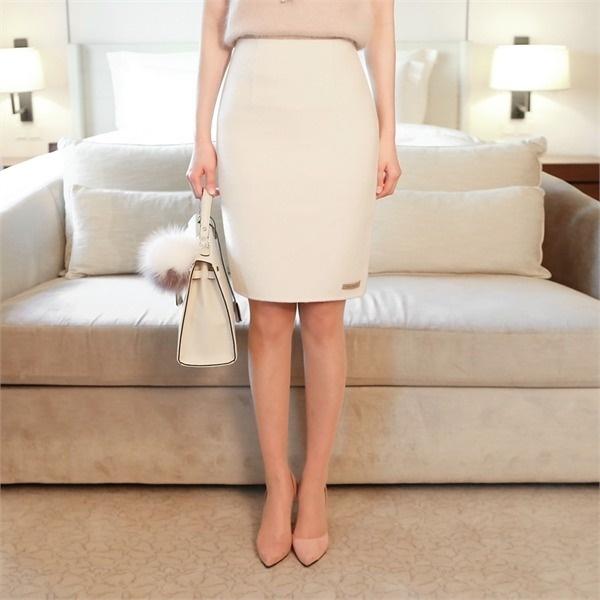 L手作りのペンシル・スカートHラインのスーツオフィスルック用のお祝い客new 無地ワンピース/ワンピース/韓国ファッション