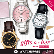 [VALENTINES SPECIAL] GIFTS FOR HER! CASIO Leather N Stainless Steel Watches Ladies. Free Shipping!