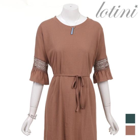 ロティニLOTINIナチュラル・レースラッフルワンピースLTHOP01 面ワンピース/ 韓国ファッション