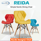 【REIDA】Simple Nordic Style Chair/Dining Chair/Study Chair/Computer Chair/Office Chair