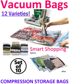 High Quality Vacuum Bag Storage Set with Manual or Electric pump Handroll Hanger Foldable Travel Bag