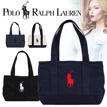 Challenge the lowest price! 【POLO RALPH LAUREN / Ralph Lauren】 【Domestic Shipping / Free Shipping】 Popular Tote Bag <All 4 Colors> SCHOOL TOTE MD Fastener Opening Closing Ceremony