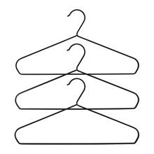 IKEA STRYKIS Gantungan Baju set isi 3 hitam