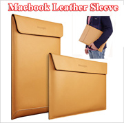 Deluxe Leather Sleeve Bag For Macbook Air Pro Retina Laptop [ 11 12 13 15 inch Macbook ] Magnetic Bu