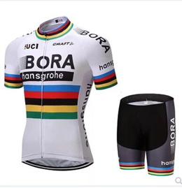 61037a5ff Rainbow B0RA summer breathable mountain self-driving cycling team short-sleeved  Jersey clothes pulle