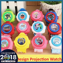 [ christmas gift Goodie Bag Kids ] Cartoon Projection Watch PJ MASK Minions Paw Patrol Star War Pony