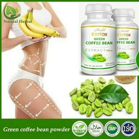 Green Coffee Bean Hendel Exitox Extract 500Mg Pelangsing Alami Deals for only Rp365.000 instead of Rp365.000